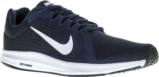 new products cba35 e696c Nike Downshifter 7 Hardloopschoenen Heren Hardloopschoenen - Maat 44 -  Mannen - blauw/wit