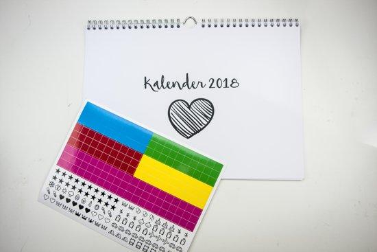 Maandkalender 2019 - Kalender met stickers