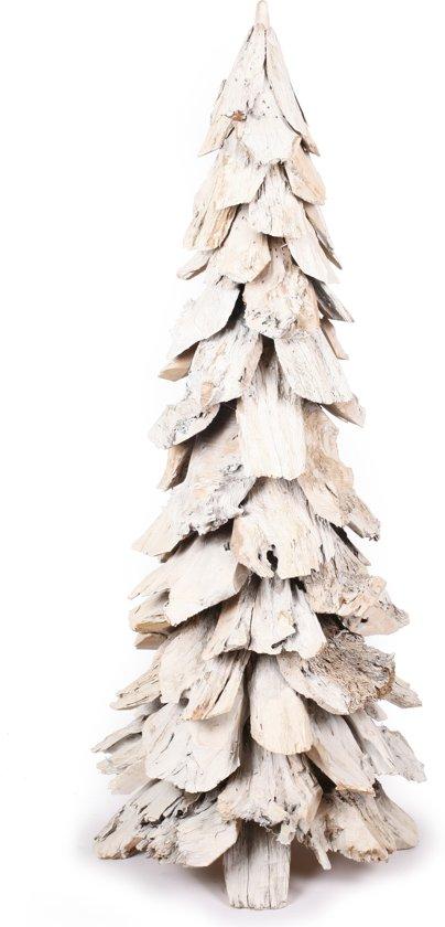 Bol Com Houten Kerstboom Whitewash Tree 120 Cm Hoog Wit