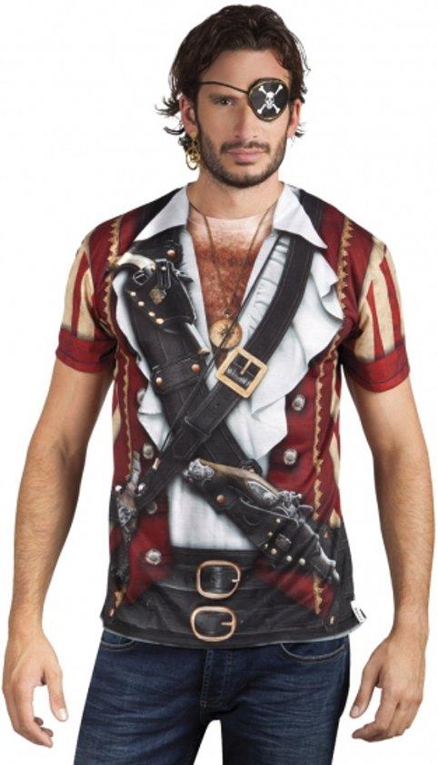 Shirt met piraat opdruk Xl
