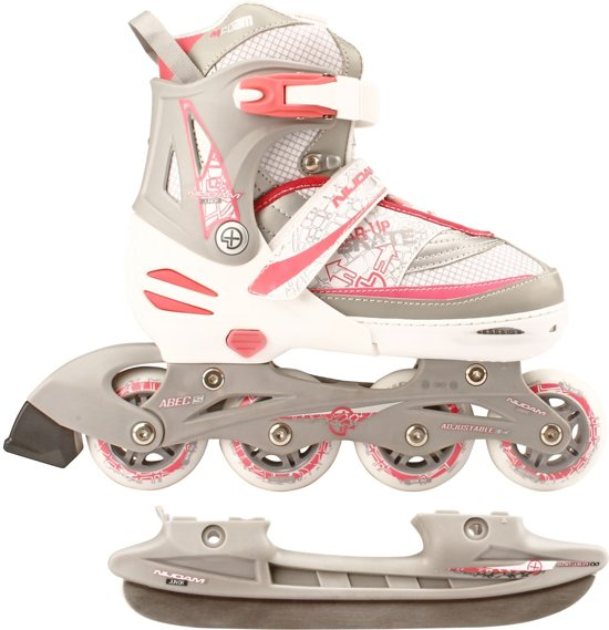 f357a9287a8 bol.com | Nijdam Junior Skate/Schaats Combo - Semi-Softboot - Wit ...