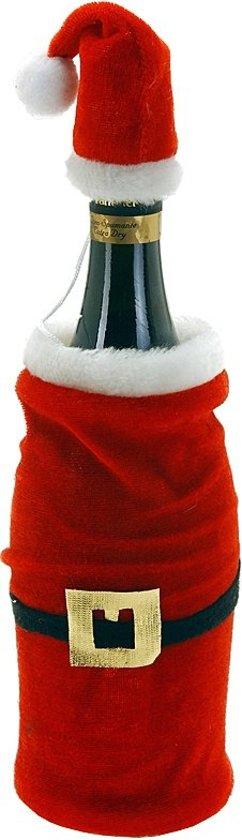 Kerstman muts en jas - voor (wijn)flessen Valentinaa