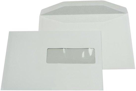 3x Gallery enveloppen 156x220mm, venster rechts (ft 40x110mm), gegomd, binnenzijde grijs, 500 stuks