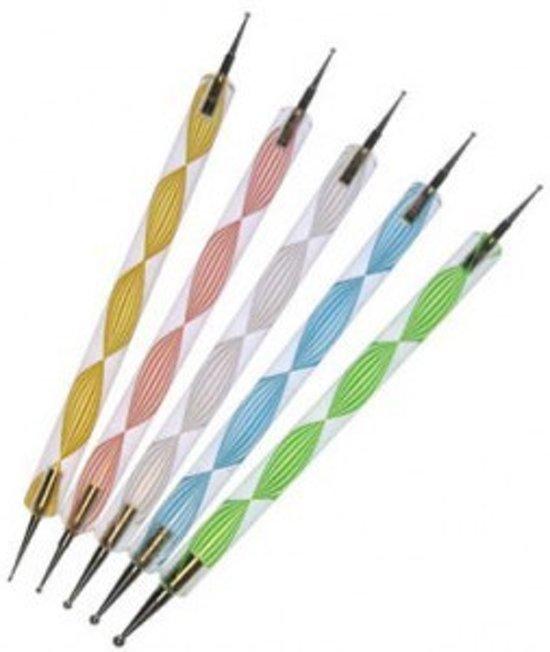 Set van 5 dotting tools voor nail art