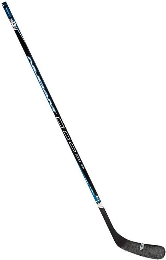Nijdam IJshockeystick Hout/Glasfiber Sr - 155 cm - Antraciet/Zilver/Rood/Wit - Rechts