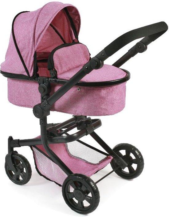 Poppenwagen Mika Jeans Pink