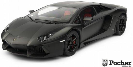 Bol Com Pocher Lamborghini Aventador Lp 700 4 Mat Zwart Hk102