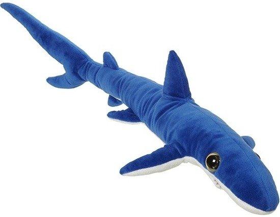 Pluche grote blauwe haai knuffel XL 110 cm - Blauwe haaien zeedieren knuffels - Speelgoed voor kinderen