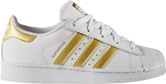 adidas superstar goud en wit