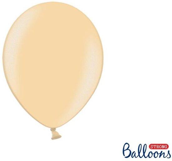 """""""""""""""Strong Ballonnen 27cm, Metallic Bright oranje (1 zakje met 50 stuks)"""""""""""""""