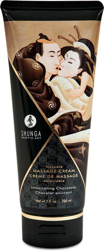 Eetbare massagecrème - chocolade