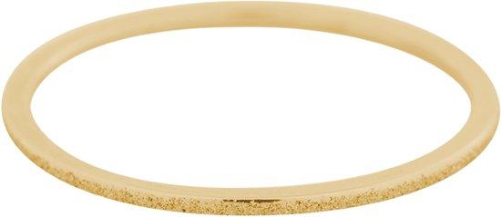 iXXXi Jewelery - Vulring - Goudkleurig - Sandblasted - 1mm - Maat 17
