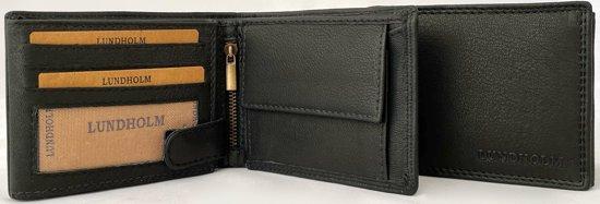 cfbb9abecff Lundholm RFID - Luxe Portemonnee heren leer | billfold RFID anti-skim  bescherming - Zwart