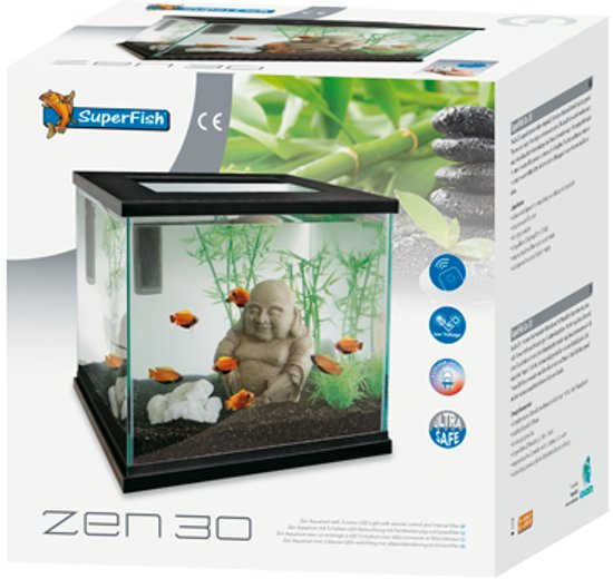 bol.com   Superfish Zen 30 Aquarium - 30x30x30 cm - 27L - Zwart