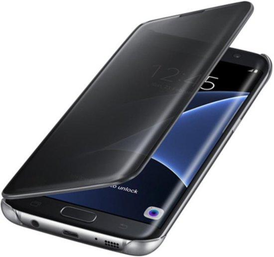 clear view case voor Galaxy S8 Flip Cover Hoesje transparant - zwart
