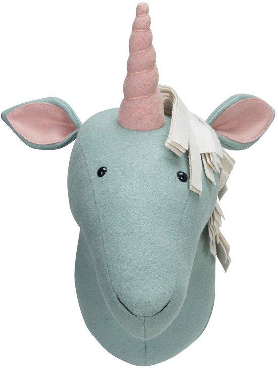 Kidsdepot Dierenboel Unicorn 16 x 30 cm - Lichtblauw