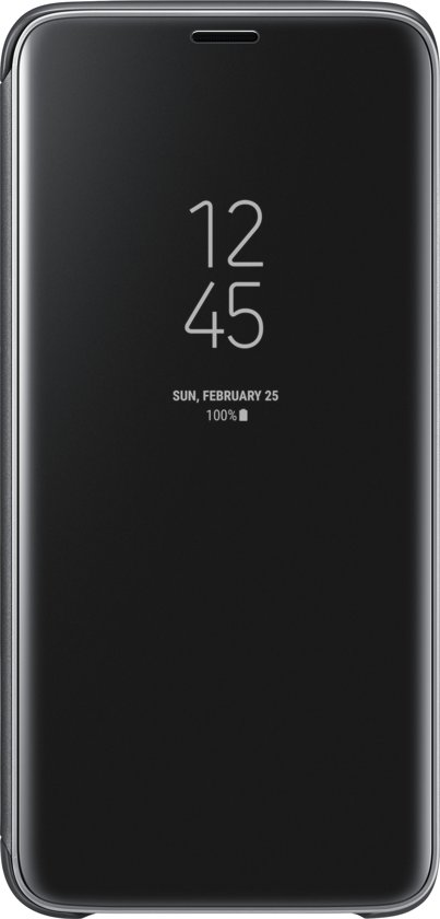 Samsung S9 Clear View Standing Cover - Zwart