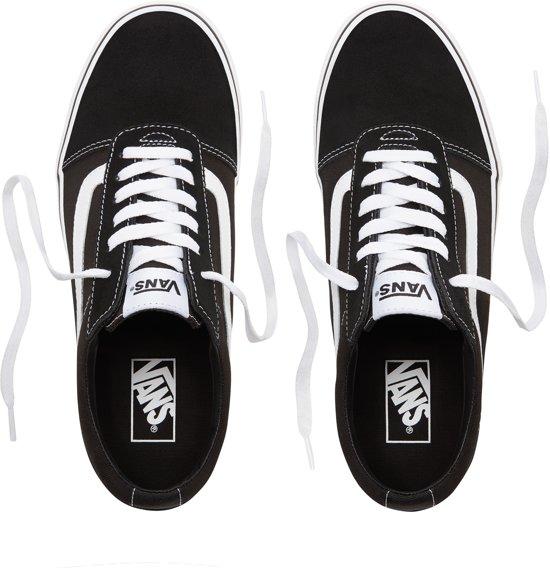 Heren Maat Vans Black Ward white canvas suede Sneakers 44 Bxxgq1E
