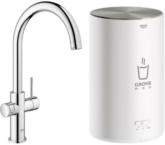 GROHE Red New Duo Kokend water kraan - Keukenkraan met M-size boiler - Chroom - 30374001
