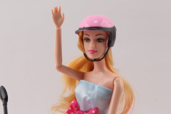 Scooter geschikt voor Barbie - Met Pop