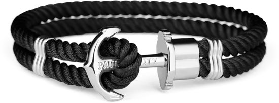Paul Hewitt Anchor Bracelet PH-PH-N-S-B-XL  - Armband - Nylon - Zwart - Ø 20cm