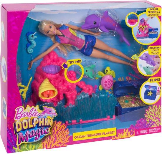 Barbie Magische Dolfijn Oceaanschat Speelset