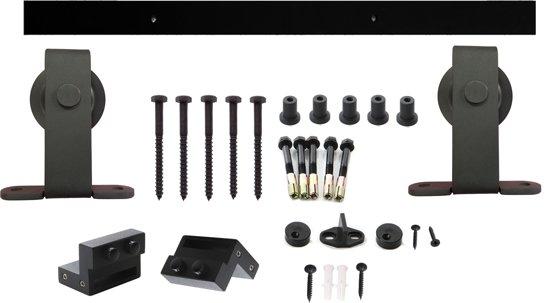 Schuifdeursysteem Basic Top mat zwart