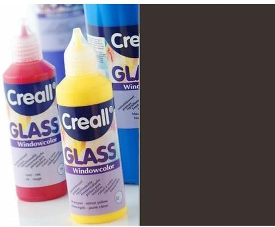 Glas Verf - CREALL-GLASS - Stickerverf - Contour - Zwart - 80ml
