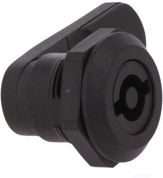 Kunststof kantelslot - dubbelbaard D5 - M22 - 12mm afsluithendel