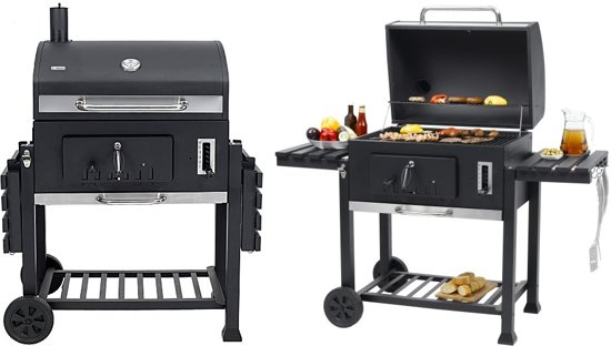 tepro toronto xxl houtskool barbecue grillwagen rvs zwart. Black Bedroom Furniture Sets. Home Design Ideas