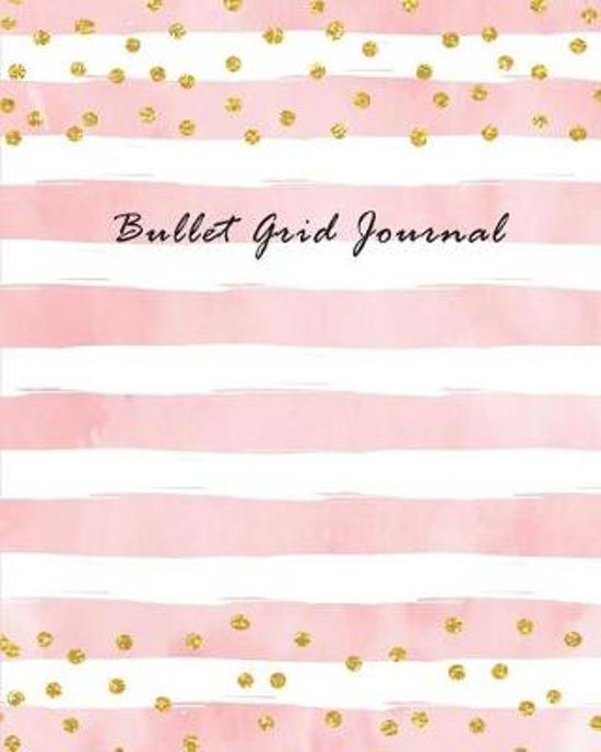 Bullet Grid Journal - Pastel roze, wit en goud