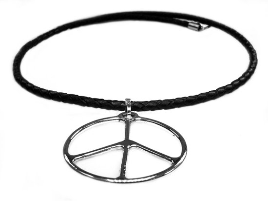 Bela Donaco Ketting Peace Sign Sterling Zilver Tribal Serie