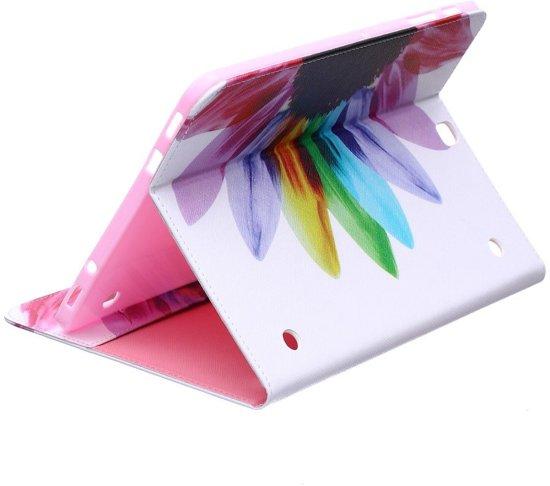 Shop4 - Samsung Galaxy Tab S2 9.7 Hoes - Book Cover Kleurrijke Bloem in Lanaken