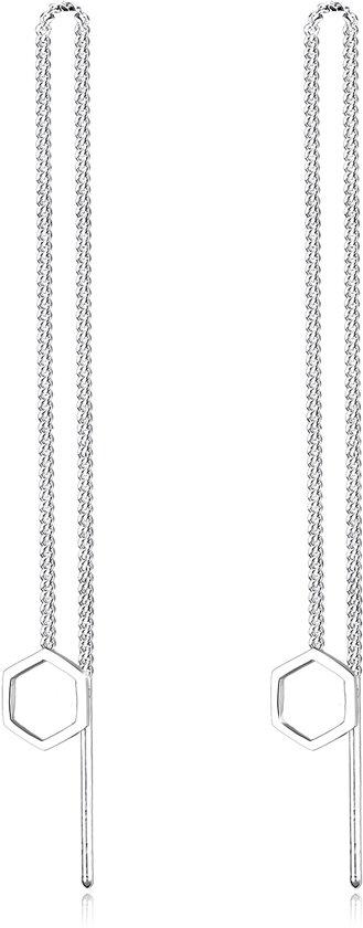 Elli Oorbellen - 925 sterling zilver - hexagonvorm