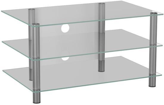 Glazen Televisie Tafel.Hifi Tv Meubel Netasa Glas Aluminium