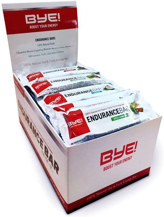 30x BYE! Endurance Bar Apple Cinnamon