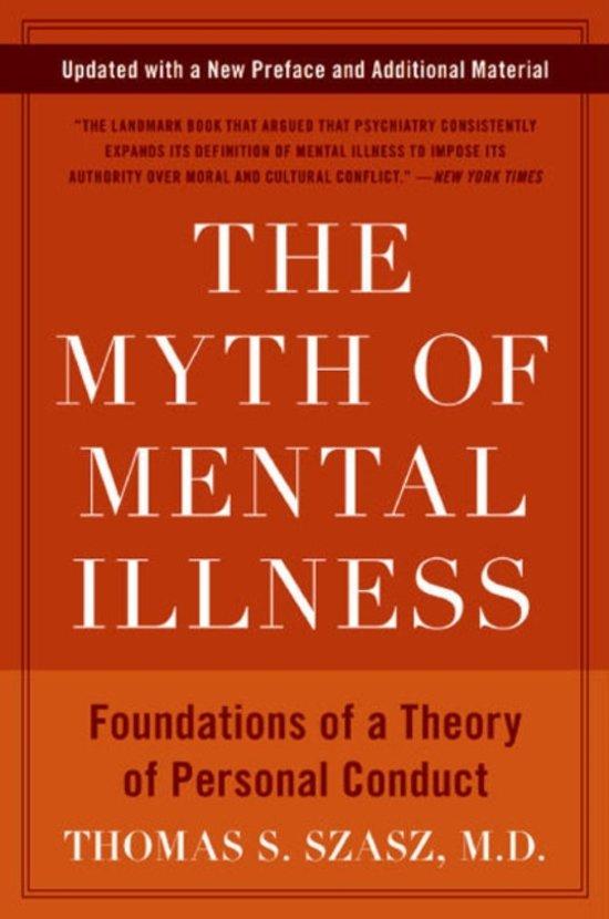 The Myth of Mental Illness