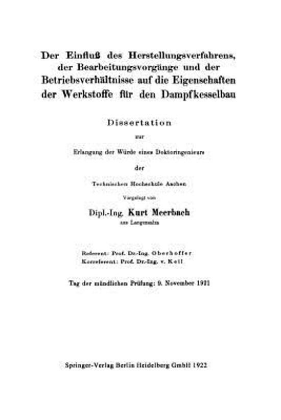 bol.com | Die Werkstoffe F r Den Dampfkesselbau | 9783662322505 ...