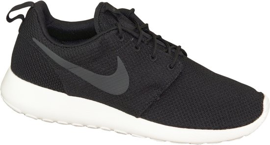 nike roshe run zwart wit heren