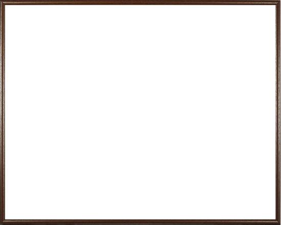 Homedecoration Easy – Fotolijst – Fotomaat 39x54 cm – Kunststof – bruin met houtstructuur