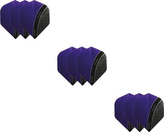 3 Sets (9 stuks) XS100 Curve flights Multipack - Paars