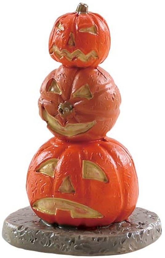 Hoe Maak Je Halloween Pompoenen.Lemax Kerstdorp Gestapelde Halloween Pompoen