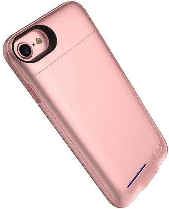 BestCases.nl Roze smart batterij hoesje / battery case met stand functie voor Apple iPhone 6 / 6s en Apple iPhone 7 en iPhone 8