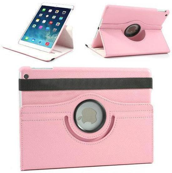 Roze lederen 360 graden smartcover hoes iPad Air