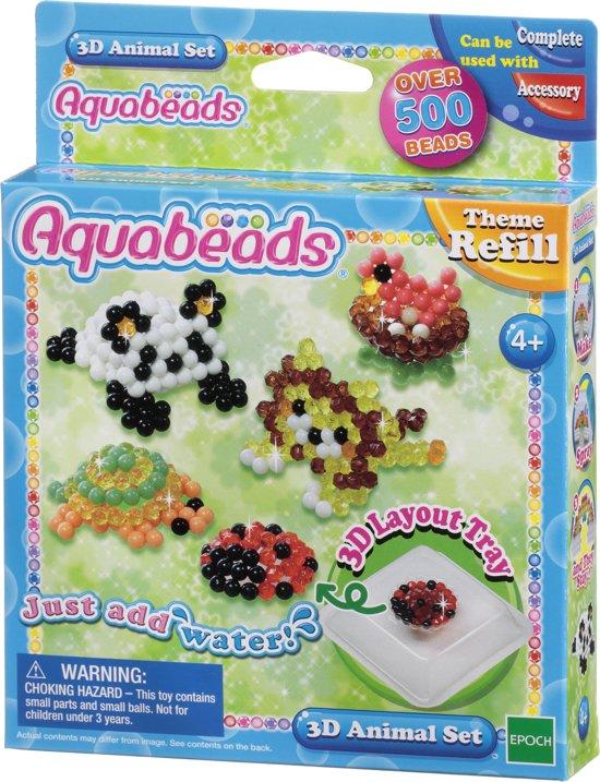Aquabeads Thema navulling 79218 3D Dierenset - Hobbypakket