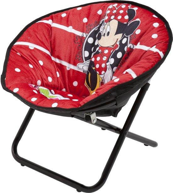Minnie Mouse Stoel.Disney Minnie Mouse Stoel Klapstoel Saucer Rood Zwart Kinderstoel