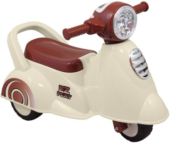 Looptrainer Scooter White Brown