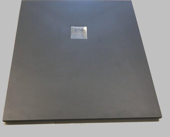 Composiet douchebak Solid 90x120cm antraciet