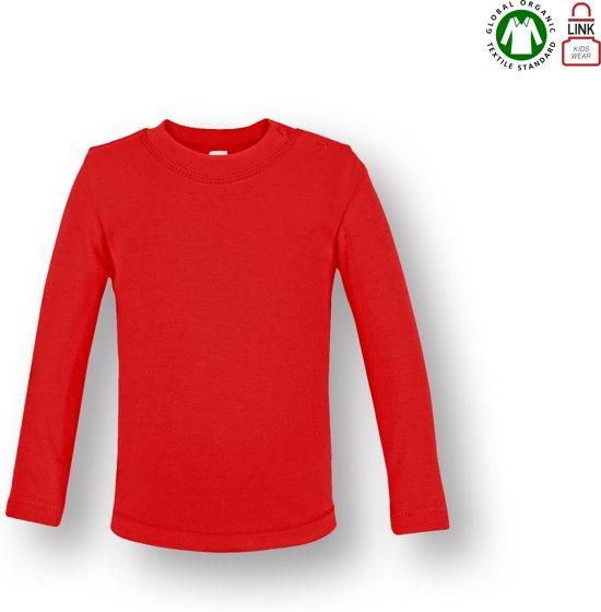 3dd4aa152de8b3 bol.com | Link Kids Wear baby T-shirt met lange mouw - Rood - Maat 50/56