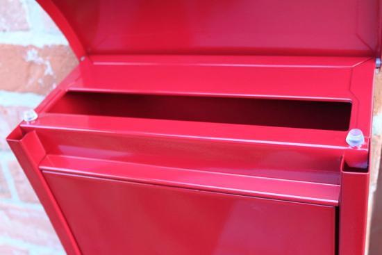 Moderne wandbrievenbus - Staal - Rood